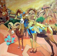Jude Bischoff Modern Animals Big Horns with Heart