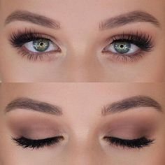 Eye makeup can easily improve your natural beauty and help to make you look and feel stunning. Discover the way in which to begin using make-up so that you can show off your eyes and stand out. Learn the top tips for applying make-up to your eyes. Wedding Makeup Tips, Natural Wedding Makeup, Wedding Hair And Makeup, Bridal Makeup For Green Eyes, Simple Wedding Makeup, Green Makeup, Bridesmaid Makeup Natural, Bride Makeup, Summer Makeup