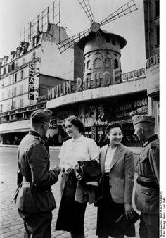 German soldiers at Moulin Rouge, Paris