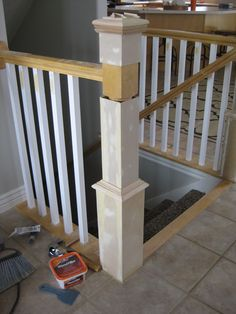 Beau DIY Stair Banister Tutorial   Part Building Around Existing Newel Post