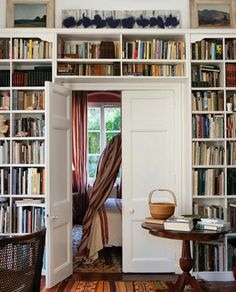Colonial, Bookshelves, Bookcase, Home Libraries, Interiores Design, Decoration, Interior And Exterior, Architecture Design, Sweet Home