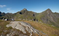 Top of the hill to the foot of Hermanndalstinden (Lofoten - Norway)