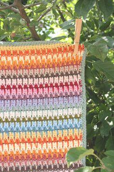 Baby Blanket Crochet Pattern Retro PDF Instant by LittleDoolally, $4.99