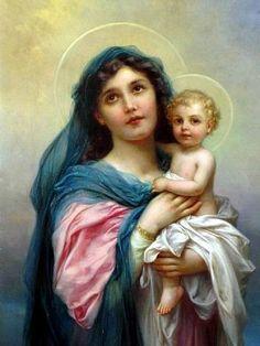 Images pieuses ( La Vierge et l'enfant)