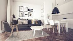 Nice one ; Scandinavian Style, Dining Bench, Indoor, Couch, Living Room, Interior Design, Architecture, Furniture, Home Decor