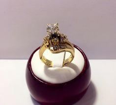 Stunning 14k Diamond ring set in yellow gold. Total diamond weight estimated at 1.14 carats. Only $1500!  www.goldassayinc.com