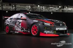 Special Star Wars livery for the Holden Racing Team. Photo by Press Image on September 2015 at Star Wars/Holden Racing Team livery launch. Browse through our high-res professional motorsports photography F1 Racing, Racing Team, Holden Muscle Cars, Australian V8 Supercars, Old Race Cars, Dark Side, Touring, Dream Cars, Super Cars