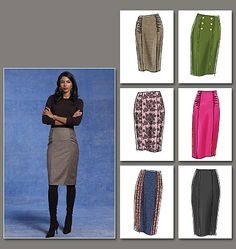 Hmmm.... I think that white/black pencil skirt can be mine for the low, low price of $4.24 and fabric! :)