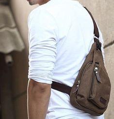 New Fashion Men's Small Canvas Messenger Shoulder Hiking Fanny Pack Bag Backpack   eBay