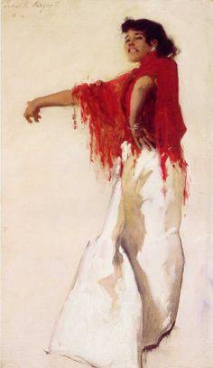 John Singer Sargent's Spanish Gypsy Dancer ....want Spanish lady tattoo