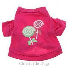 T-shirt pour chien LOLIPOP www.chiclittledogs.com