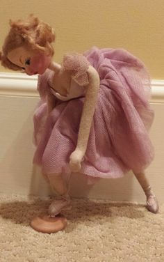 Vintage Klumpe Made in Spain Purple Ballerina Doll
