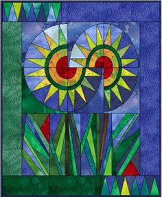 Subversive Stitchers: Women Armed with Needles: November 2008 Quilting Projects, Quilting Designs, Paper Pieced Quilt Patterns, Pattern Paper, Sunflower Quilts, Quilt Modernen, Quilted Wall Hangings, Barn Quilts, Mini Quilts