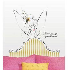 Nice RoomMates Disney Fairies Tinkerbell Headboard Giant Peel u Stick Wall Decal