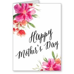 Bright Floral | Mother's Day Card  @creativework247