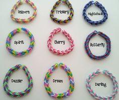 NEW Rainbow Loom Strength Bracelets! by AllaurasAttic on Etsy