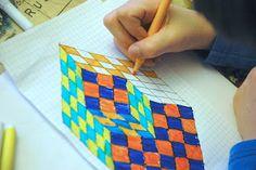 Sub Plans?: arteascuola: Optical illusion cube