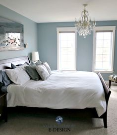 Blue Paint Colours: The 2 Types and Where They Work Best Blue Bedroom Paint, Green Bedroom Walls, Blue Master Bedroom, Bedroom Decor, Bedroom Beach, Blue Bedroom Colors, Blue Painted Rooms, Bedroom Wall Paints, Paint Colors For Bedrooms