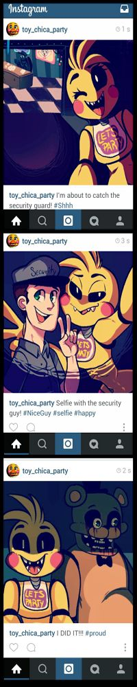 Five Nights at Freddy's 2.  if toy chica had an instagram account,this is what would be on it!
