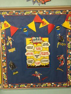Superhero classroom (Justice League: Batman, Batgirl, Superman, Supergirl, and Wonderwoman)