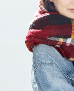 Image 3 of CHECKED SCARF from Zara