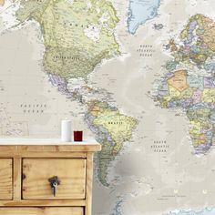 Giant Clic World Map Mural