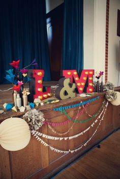 How to make a feature of.the front of the stage. A DIY Village Hall Wedding & A Bride Who Designed her own Dress: Laura & Mike Perfect Wedding, Diy Wedding, Wedding Day, Wedding Halls, Khmer Wedding, Wedding Anniversary, Wedding Bride, Wedding Reception, Wedding Dress