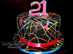splatter cake!!! SO COOL.