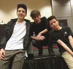 Carter Reynolds, Jacob Sartorius and Daniel Skye