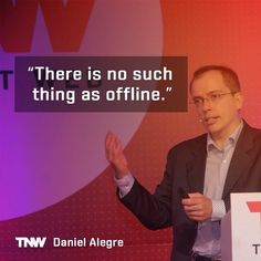 What is the future of advertising? Daniel Alegre, VP of Global Partnerships at @Google, says that 90% of all media interactions happen online, even those previously regarded as offline. Watch his full talk on tnw.to/video