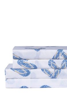 Take a look at this Blue Flip-Flop Sheet Set today! Beach Bedding, Luxury Bedding, Honeymoon Island, Beach House Bedroom, Blue Flip Flops, 100 Cotton Sheets, Mobile Home, Sheet Sets, Decorative Boxes