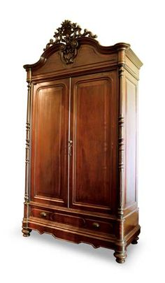 Tambol Aparador in the style of Ah Tay from the D. Guevarra Collection, c. Gothic Furniture, Antique Furniture, Furniture Ideas, Rococo, Baroque, Furnitures, Goddesses, Closets, Colonial