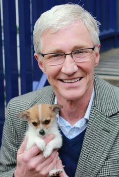 Paul O'Grady & Eddie Jimmy Carr, Tv Presenters, Dog Show, Tv On The Radio, Whats New, Comedians, Animal Rescue, This Is Us, Corgi