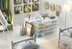 Dorm room organization #college