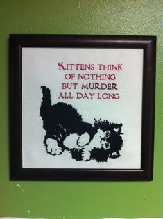 Kittens & Murder CrossStitch Pattern by CraftComplex on Etsy, $5.00