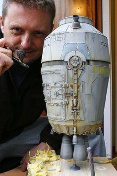 Lasse Henning uploaded this image to 'Starv Wars Escape-Pod revisited'. See the album on Photobucket. Concept Ships, Concept Art, Sci Fi Models, Star Wars Models, Spaceship Design, Fantasy Castle, Custom Action Figures, Retro Futurism, Model Ships