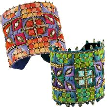 Yuval Cuff Bracelets at Herrschners  I never knew that Needlepoint could be so beautiful!