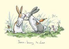 Some Bunny To Love - Illustration by Anita Jeram Art And Illustration, Painting Illustrations, Rabbit Illustration, Anita Jeram, Rabbit Art, Rabbit Drawing, Bunny Art, Cute Drawings, Easter Drawings