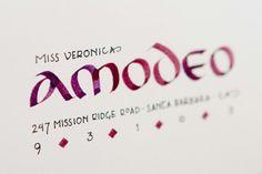 Envelope Address Calligraphy Spanish Style. via Hacienda Hostess @ Etsy.