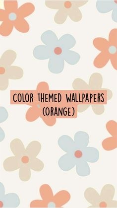 Color themed wallpapers (Orange)