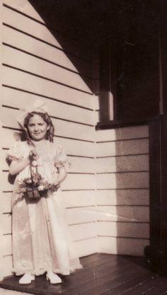 Flower Girl ~ circa 1940.