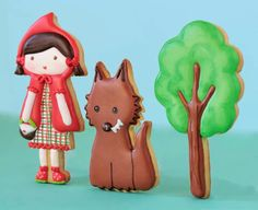 Little red riding hood decorated cookies