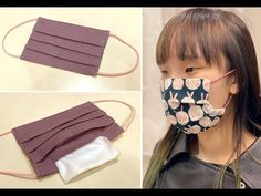 How to sew cloth mask with filter pocket (with English subtitles) Sewing Patterns Free, Free Sewing, Free Pattern, Easy Face Masks, Diy Face Mask, Sewing Hacks, Sewing Tutorials, Creation Couture, Diy Mask
