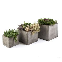 This beautiful cubic style planter is cast from cement and natural fiber for added strength while keeping a lightweight feel for versatile use. Artfully showcase garden greenery with the gorgeous organic tone.