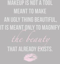 #quote Makeup and Beauty