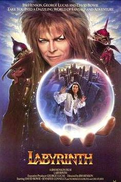 A great poster from the fantastic fantasy movie Labyrinth by Muppet-eer Jim Henson! Starring David Bowie and Jennifer Connelly. Need Poster Mounts. Labyrinth 1986, Labyrinth Movie, Jareth Labyrinth, David Bowie Labyrinth, Jim Henson, Love Movie, Movie Tv, 80s Movie Posters, Movie Posters
