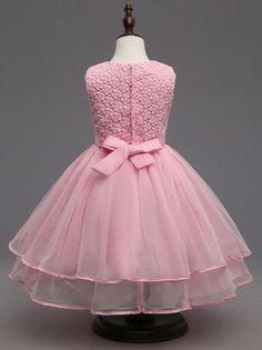 In Stock:Ship in 48 hours Pink Pearls Girl Dress Little Girl Pageant Dresses, Cheap Flower Girl Dresses, Girls Party Dress, Little Girl Dresses, Girls Dresses, Cinderella Dress Kids, Baby Dress Patterns, Sewing Patterns, Kids Dress Wear
