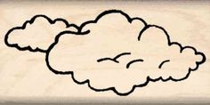 Clouds Rubber Stamp  1 inch x 2 inches >>> Check this awesome product by going to the link at the image.