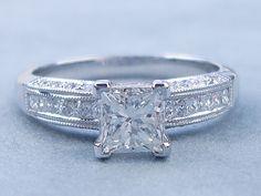 Wedding Stuff, Wedding Rings, Wedding Ideas, Diamond Rings, Diamond Engagement Rings, Classic Style, My Style, Princess Cut Diamonds, Treasure Chest