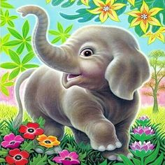5D Diamond Painting Elephant Animal Full Drill DIY Mosaic Diamond Embroidery Cross Stitch Kits Home